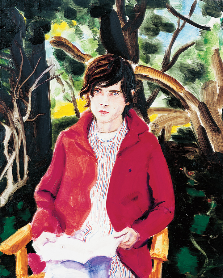 Elizabeth peyton celebrity paintings for sale